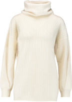 Agnona Draped cable-knit cashmere sweater
