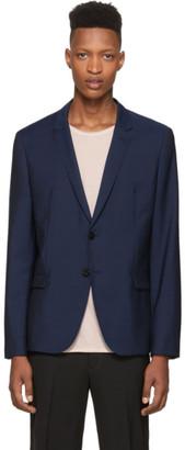 HUGO Blue Wool Aero Blazer