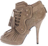 Givenchy Suede Fringe Ankle Boots