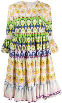 La DoubleJ Geometric Flared Dress