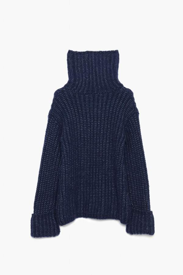 Genuine People Thick Knit Wool Blend Sweater