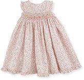 Luli & Me Sleeveless Floral Smocked Bishop Dress, Pink, Size 2-4T