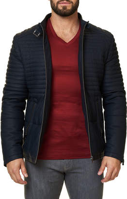Maceoo Men's Quilted Leather Biker Jacket