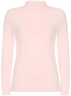 Mint Velvet Blush Polo Neck Top