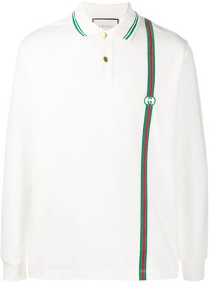Gucci Logo Striped Polo Shirt