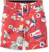 Ralph Lauren Sanibel Tropical Board Shorts, Size 2-4T