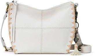 The Sak Women's Handbags Stone - Stone Crochet Silverlake City Leather Crossbody Bag
