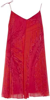 Halston Orange Polyester Dresses