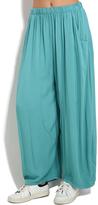 Everest Light Green Pocket Wide-Leg Pants - Plus Too
