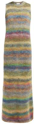 Raey Striped Hand-painted Knitted Dress - Womens - Multi