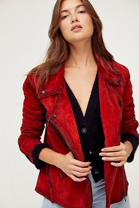 We The Free Jealousy Suede Moto Jacket