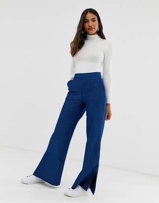 Vila pinstripe trousers-Navy