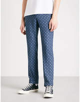 The Kooples Patterned slim-fit twill trousers