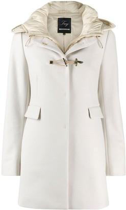 Fay Hooded Short Duffle Coat