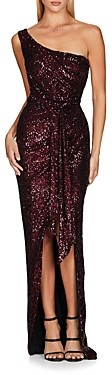 Nookie Palazzo One-Shoulder Sequinned Gown