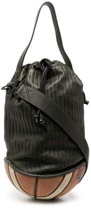 Bgbl Stripe-Print Leather Bucket Bag