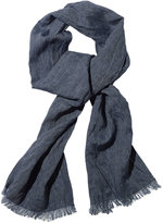 L.L. Bean Signature Irish Linen Indigo Scarf
