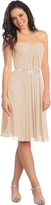 Elizabeth K - Jewel Embellished Pleated Sweetheart Dress GS1079