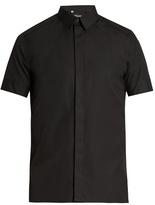 Dolce & Gabbana Polka-dot cuff cotton and silk-blend shirt