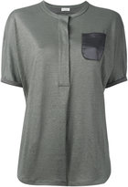 Brunello Cucinelli loose fit top - women - Silk/Linen/Flax - XS