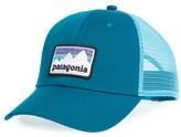 Patagonia Men's Shop Sticker Trucker Hat - Blue