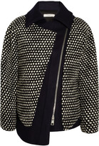 Bouchra Jarrar Oversized bouclé and wool-blend jacket