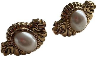 Guy Laroche White Pearl Earrings