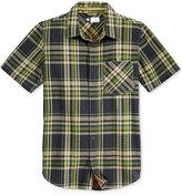 Lrg Men's Short-Sleeve Big Cat Plaid Shirt