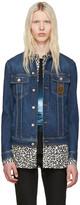 Dolce & Gabbana Blue Denim Crown Jacket