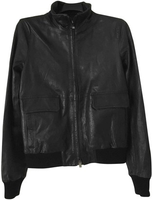 Theory Black Leather Leather Jacket for Women