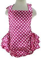 Wennikids Baby Girl's Summer Dress Clothing Ruffle Baby Romper Medium