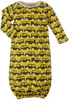 Winter Water Factory Traffic Jam Baby Gown (Baby) - Yellow and Grey-NB