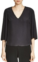 Maje Lurexa V-Neck Top