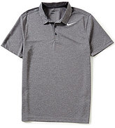 Nike Breathe Short-Sleeve Heather Polo Shirt
