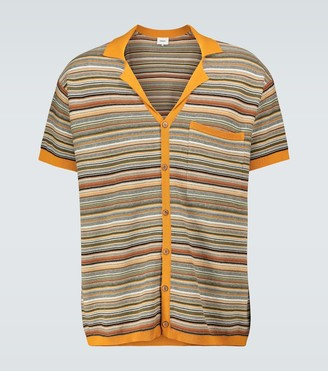 Nanushka Taro striped short-sleeved shirt
