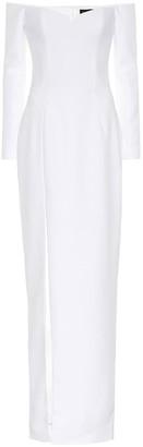 Rasario CrApe corset gown