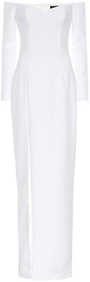 Rasario Crepe corset gown