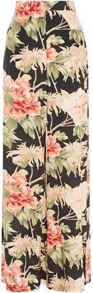 Zimmermann Floral-print Silk Crepe De Chine Wide-leg Pants