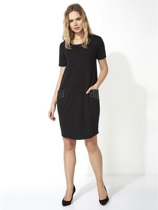 M&Co Roman Originals hotfix pocket detail slouch dress