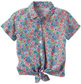 Carter's Baby Girl Floral Button-Down & Tie Front Top