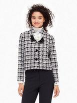 Kate Spade Textured tweed bow jacket