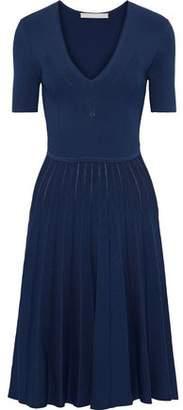 Jason Wu Pleated Ribbed-knit Dress
