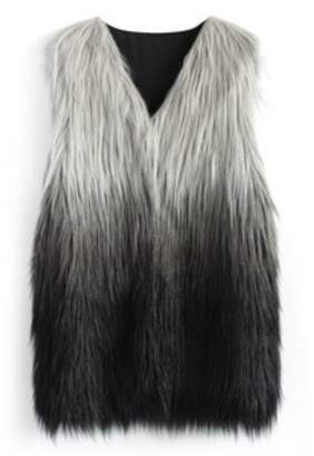Wanna B Dip-Dyed Faux-Fur Vest