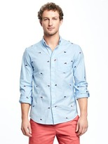 Old Navy Slim-Fit Oxford Stretch Shirt for Men