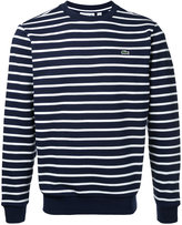 Lacoste crew neck striped sweatshirt - men - Cotton - 4