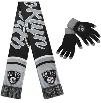 Women's Brooklyn Nets Glove and Scarf Set