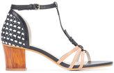 Jil Sander Navy chunky heel sandals