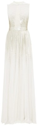 Givenchy Sequinned Hooded Silk-georgette Gown - Womens - Ivory Multi