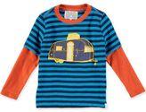Rockin' Baby Retro Camper Applique T-Shirt in Blue