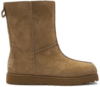 Eckhaus Latta Brown and Off-White UGG Edition Block Boot